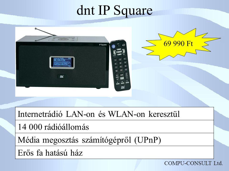 dnt IP Square Internetrádió LAN-on és WLAN-on keresztül