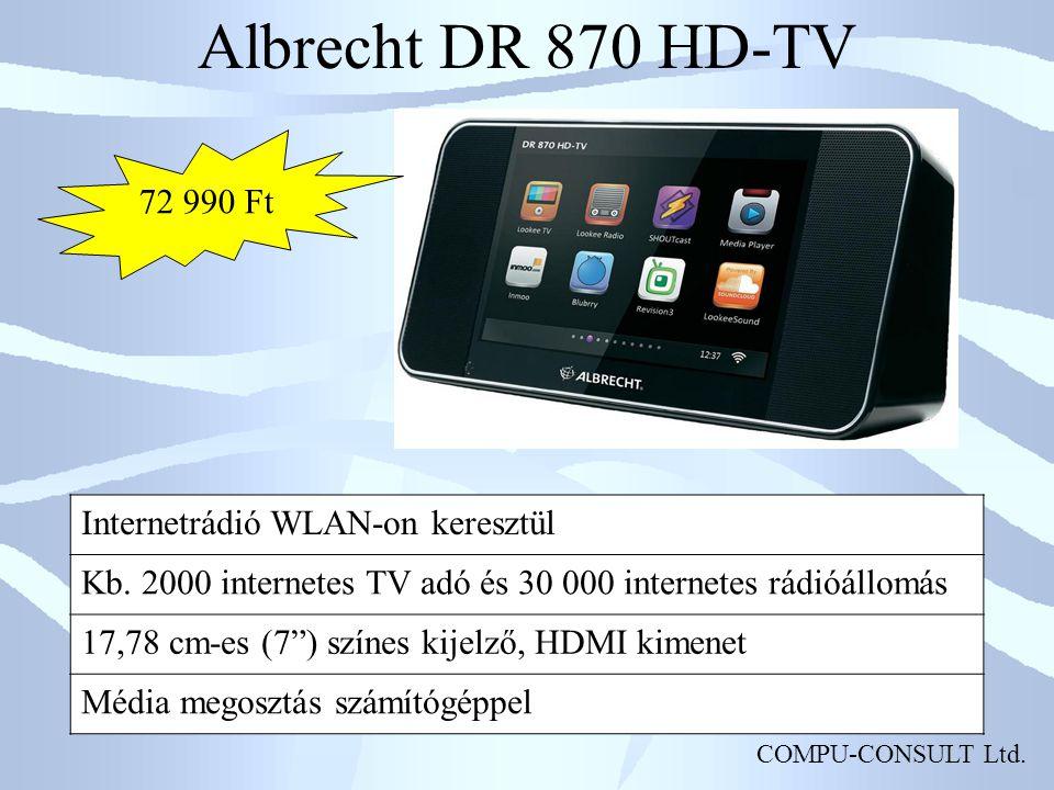 Albrecht DR 870 HD-TV 72 990 Ft Internetrádió WLAN-on keresztül