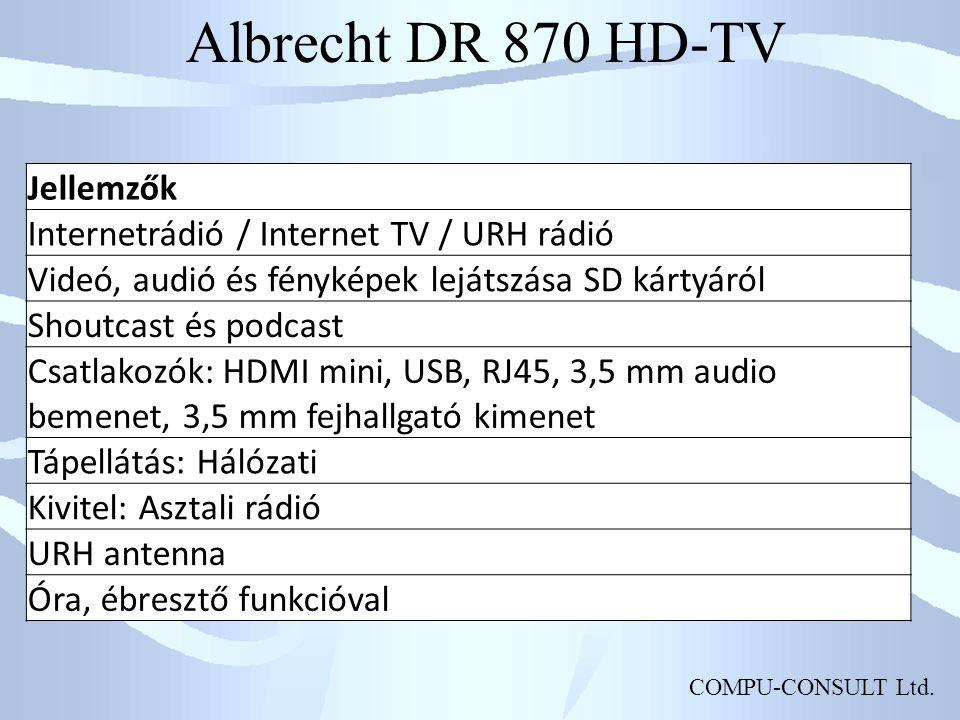 Albrecht DR 870 HD-TV Jellemzők
