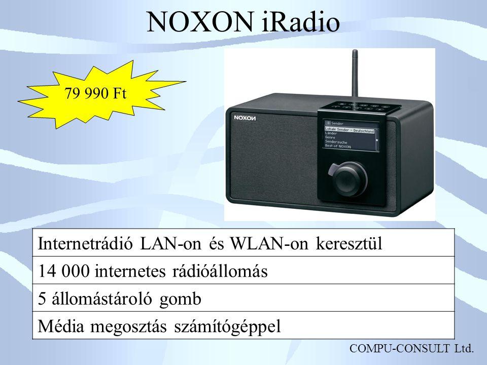 NOXON iRadio Internetrádió LAN-on és WLAN-on keresztül