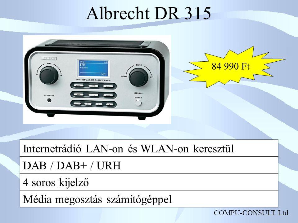 Albrecht DR 315 Internetrádió LAN-on és WLAN-on keresztül