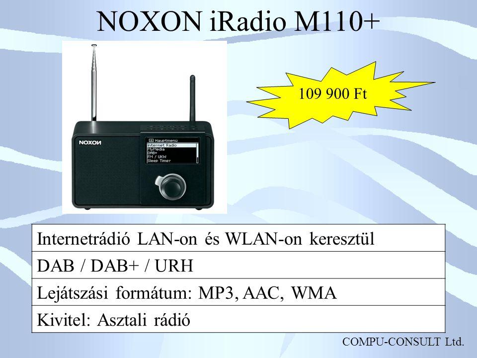NOXON iRadio M110+ Internetrádió LAN-on és WLAN-on keresztül