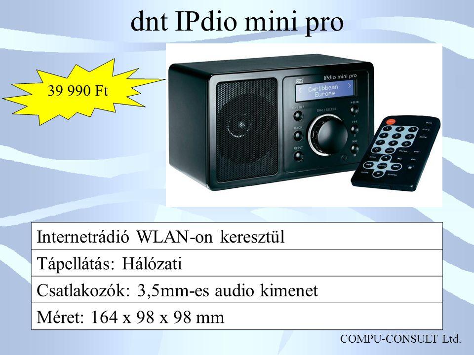 dnt IPdio mini pro Internetrádió WLAN-on keresztül