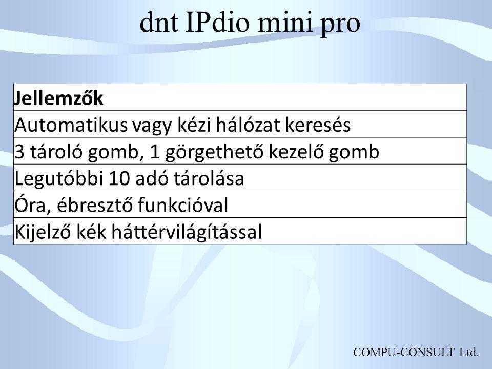 dnt IPdio mini pro Jellemzők Automatikus vagy kézi hálózat keresés