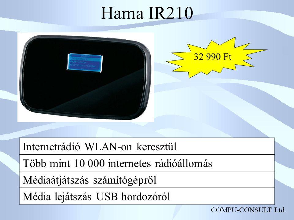 Hama IR210 Internetrádió WLAN-on keresztül