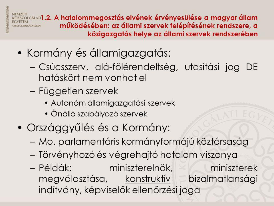Kormány és államigazgatás: