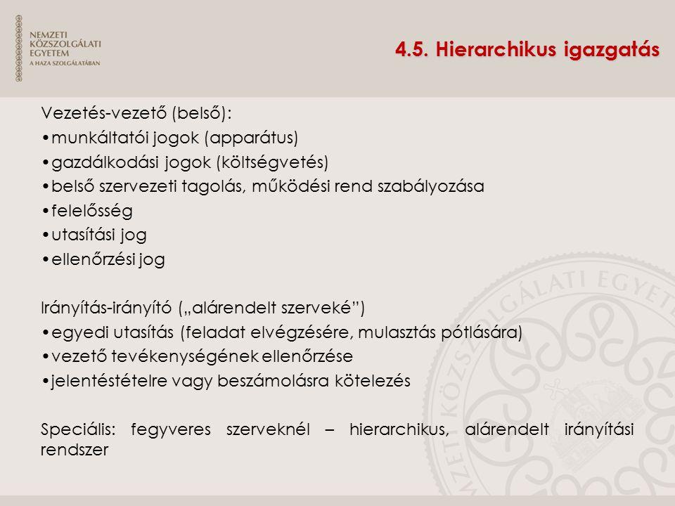 4.5. Hierarchikus igazgatás