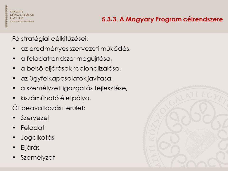 5.3.3. A Magyary Program célrendszere