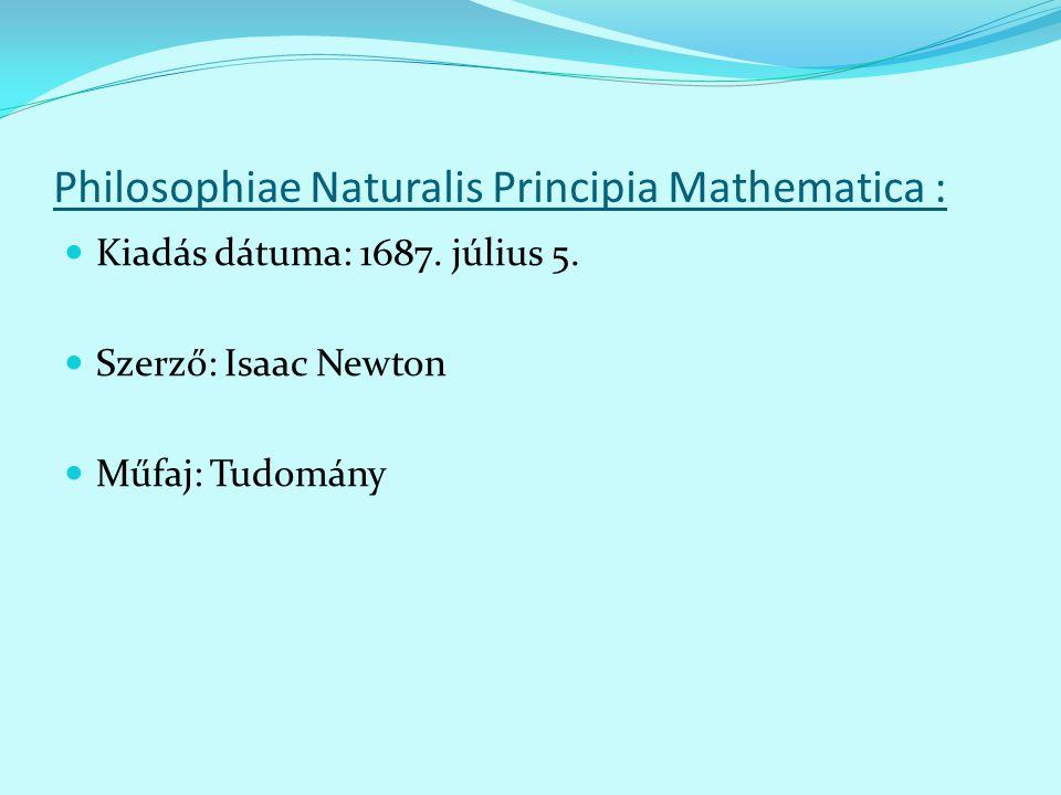 Philosophiae Naturalis Principia Mathematica :