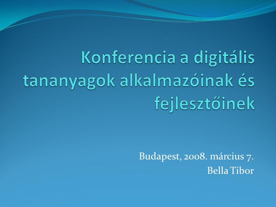 Konferencia a digitális tananyagok alkalmazóinak és fejlesztőinek