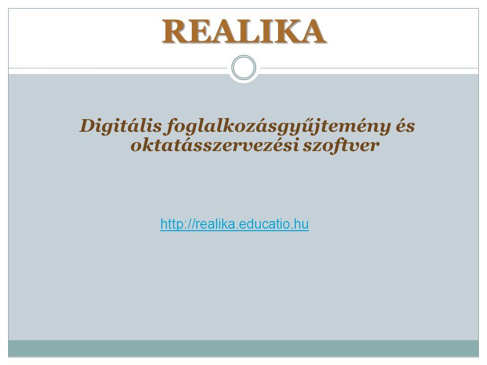 Digitális foglalkozásgyűjtemény és oktatásszervezési szoftver