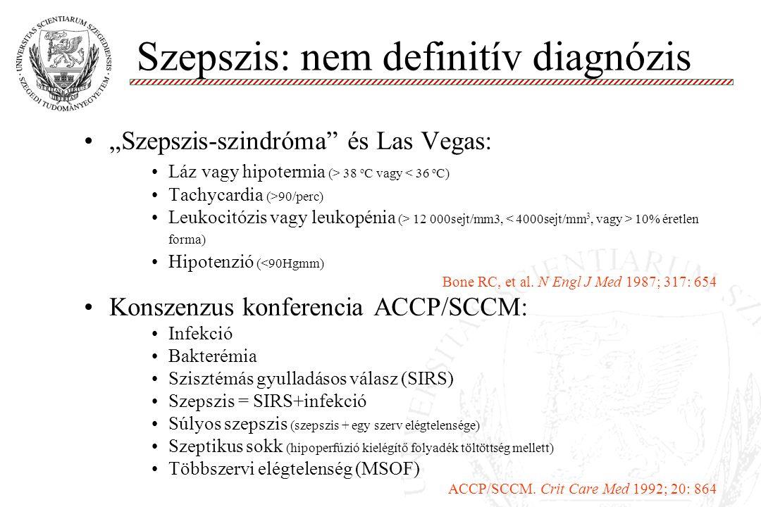 Szepszis: nem definitív diagnózis