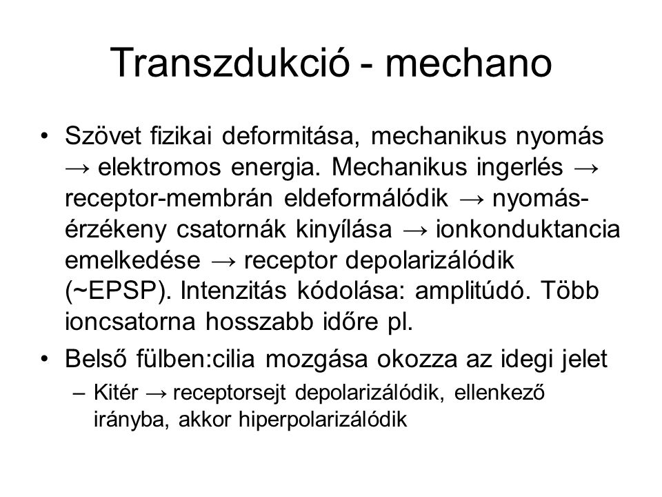 Transzdukció - mechano