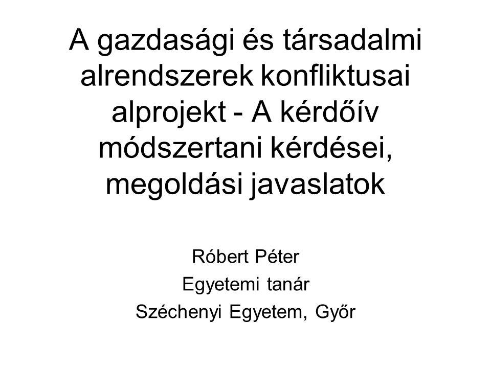 Róbert Péter Egyetemi tanár Széchenyi Egyetem, Győr