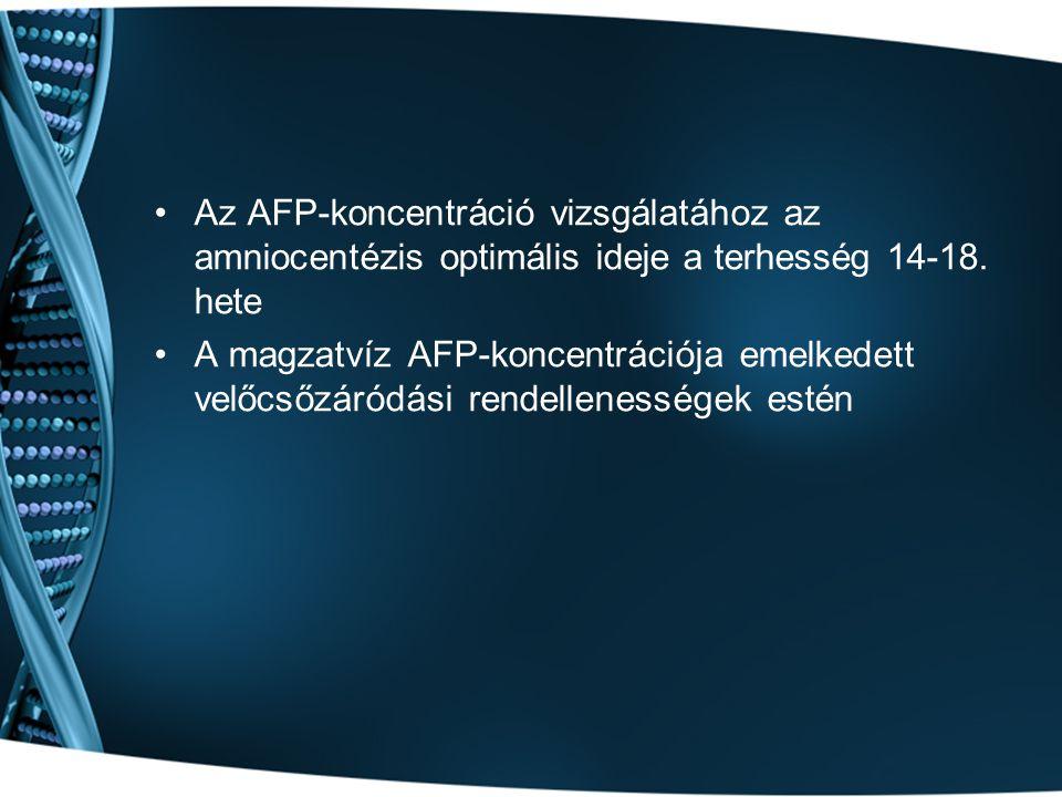 Az AFP-koncentráció vizsgálatához az amniocentézis optimális ideje a terhesség 14-18. hete