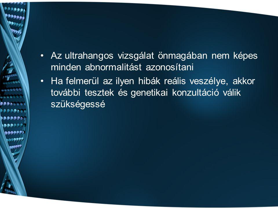 Az ultrahangos vizsgálat önmagában nem képes minden abnormalitást azonosítani