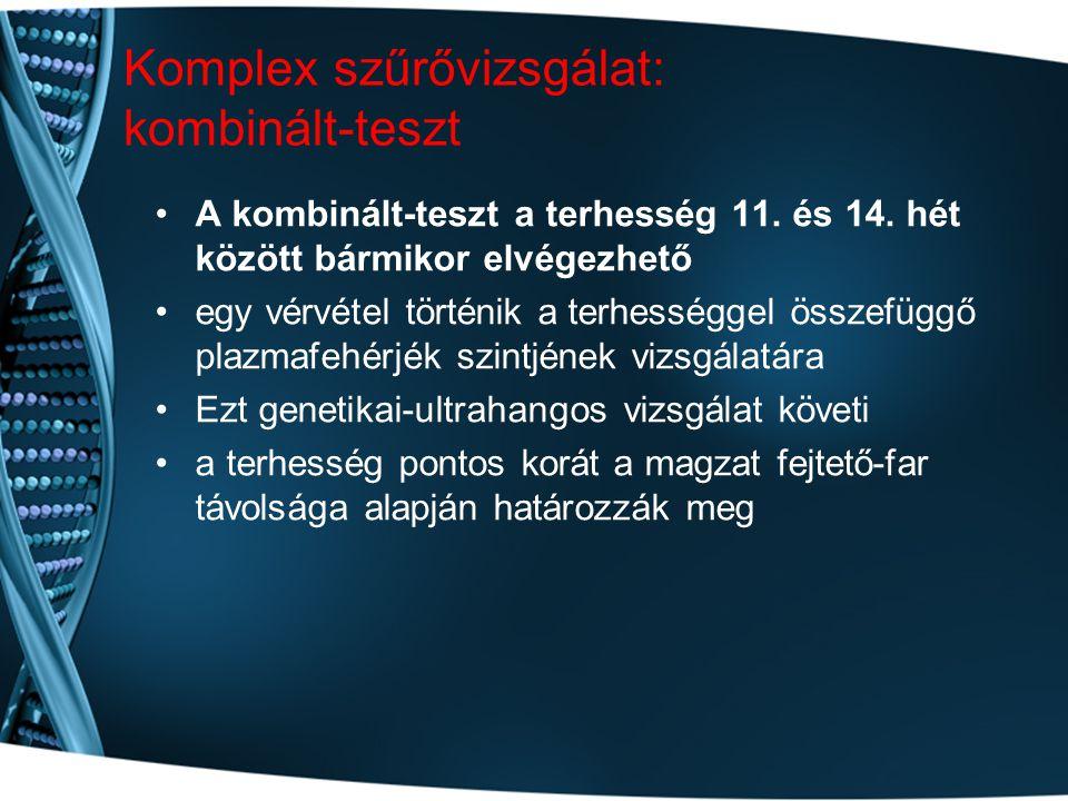 Komplex szűrővizsgálat: kombinált-teszt