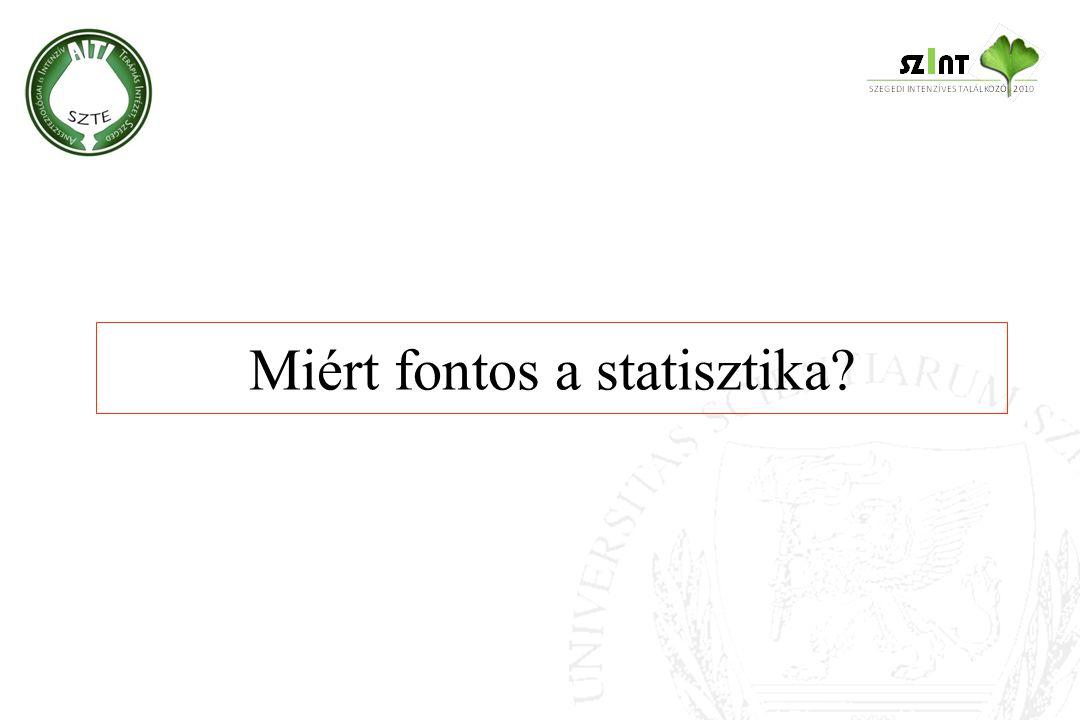 Miért fontos a statisztika