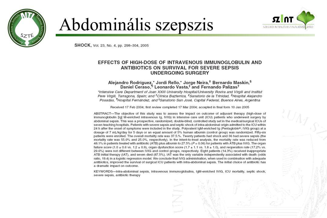 Abdominális szepszis 10 10