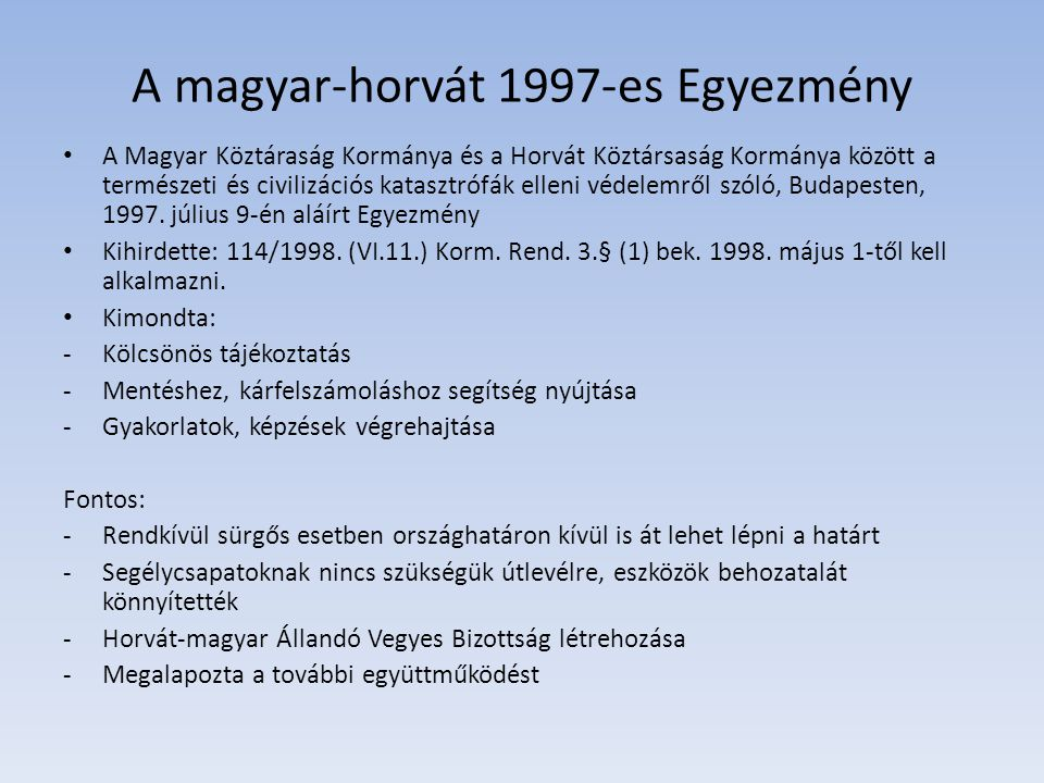 A magyar-horvát 1997-es Egyezmény