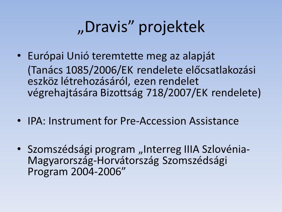 """""""Dravis projektek Európai Unió teremtette meg az alapját"""