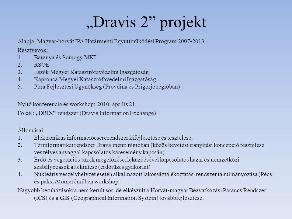 """""""Dravis 2 projekt Alapja: Magyar-horvát IPA Határmenti Együttműködési Program 2007-2013. Résztvevők:"""
