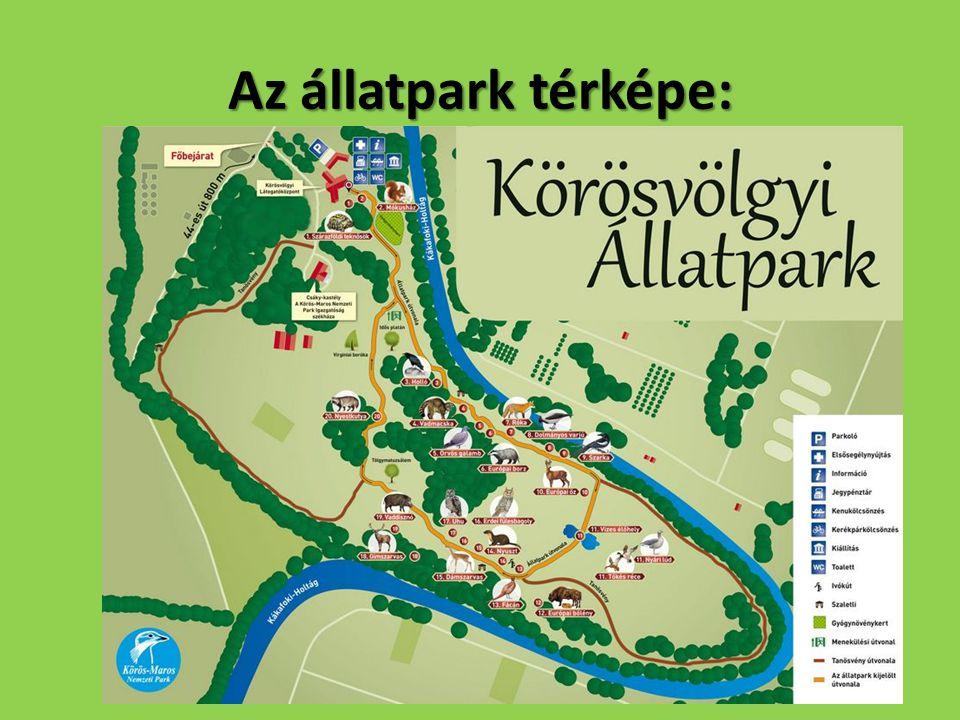 Az állatpark térképe: