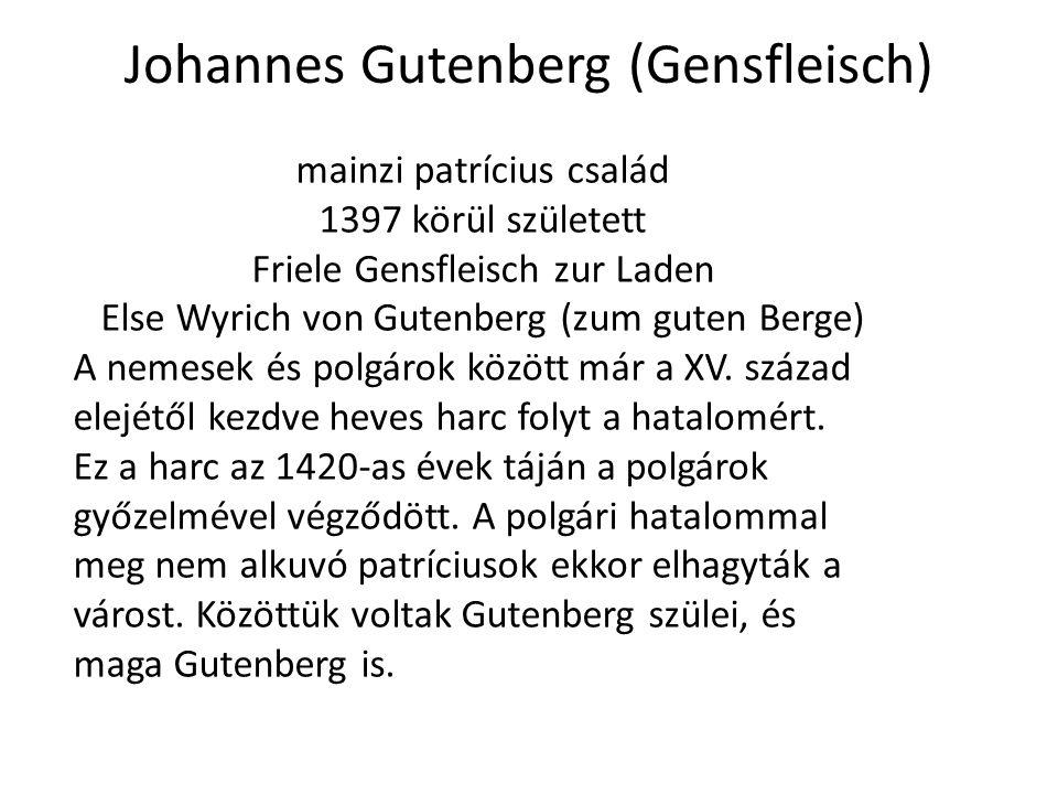 Johannes Gutenberg (Gensfleisch)
