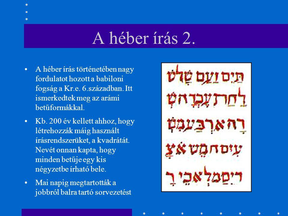 A héber írás 2.