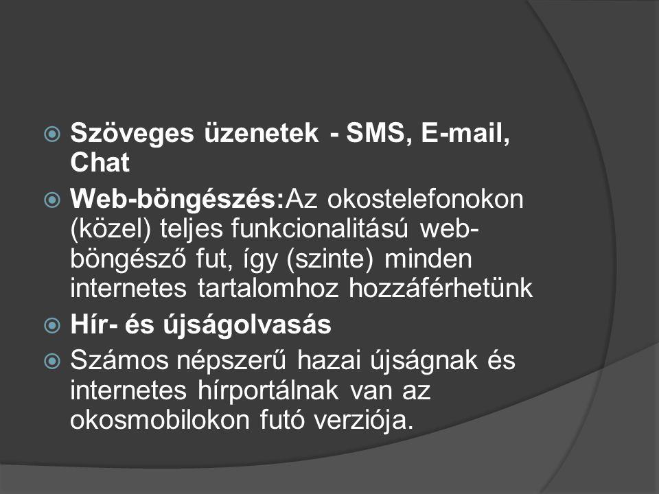 Szöveges üzenetek - SMS, E-mail, Chat
