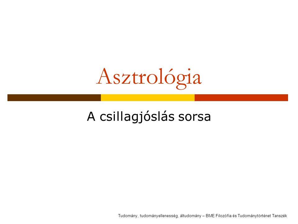Asztrológia A csillagjóslás sorsa