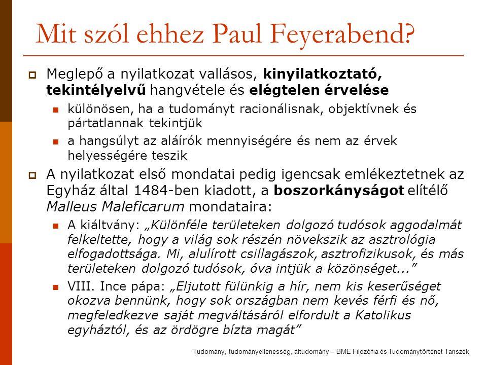 Mit szól ehhez Paul Feyerabend