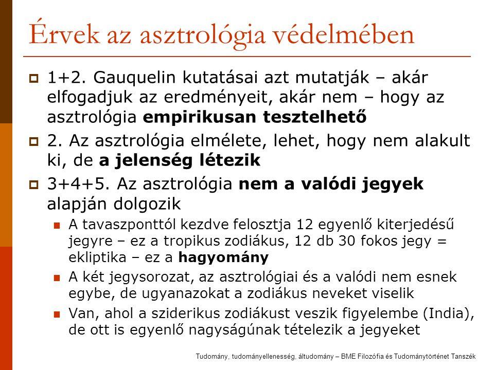 Érvek az asztrológia védelmében