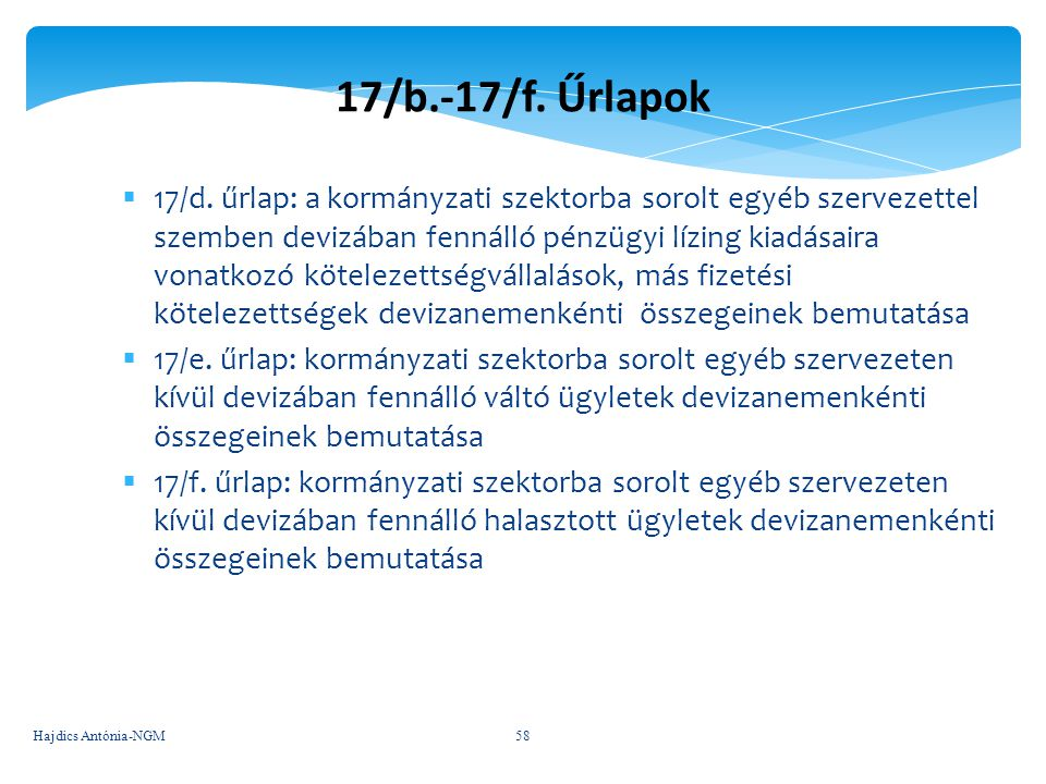 17/b.-17/f. Űrlapok
