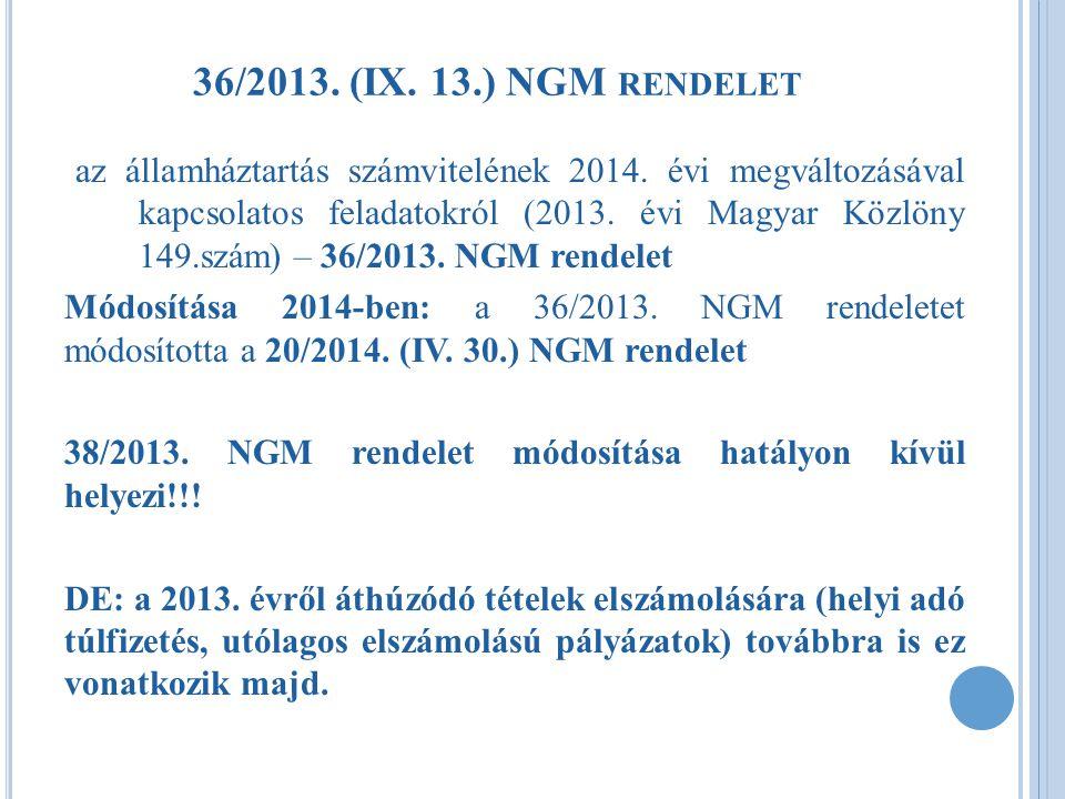 36/2013. (IX. 13.) NGM rendelet