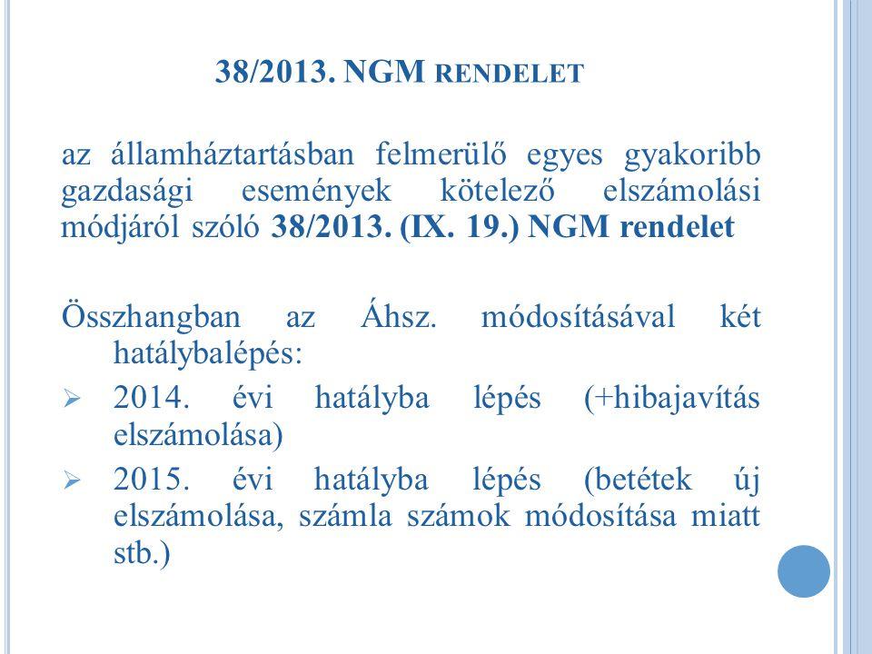 38/2013. NGM rendelet