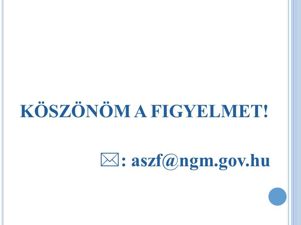 KÖSZÖNÖM A FIGYELMET! : aszf@ngm.gov.hu