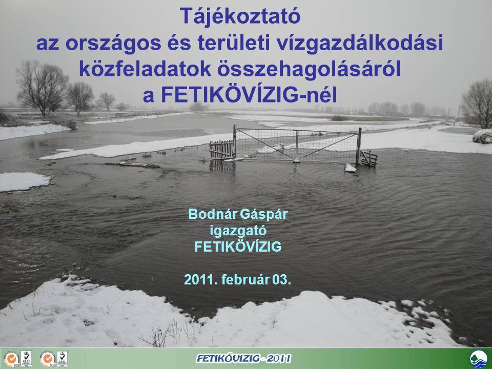 Bodnár Gáspár igazgató FETIKÖVÍZIG 2011. február 03.
