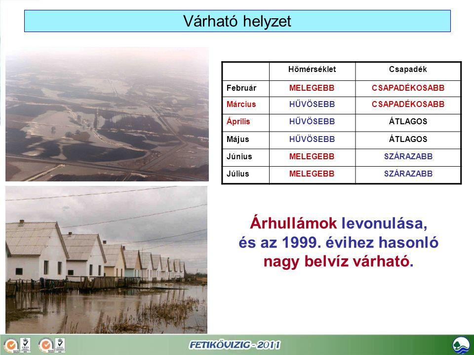 Árhullámok levonulása, és az 1999. évihez hasonló nagy belvíz várható.
