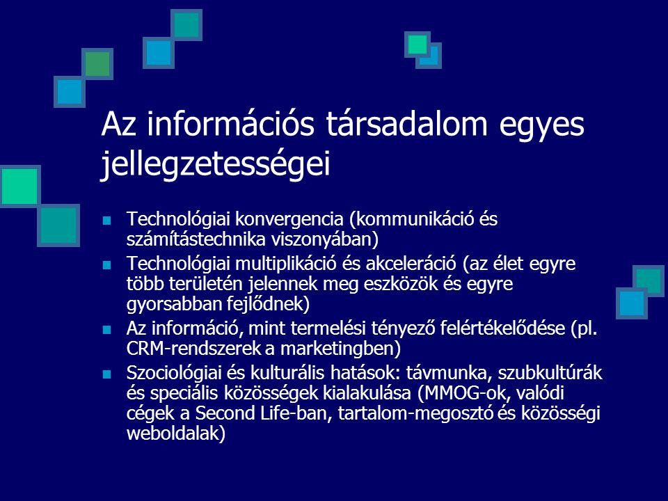 Az információs társadalom egyes jellegzetességei