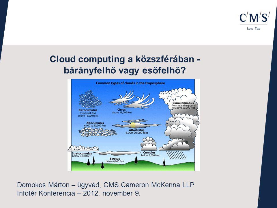Cloud computing a közszférában - bárányfelhő vagy esőfelhő