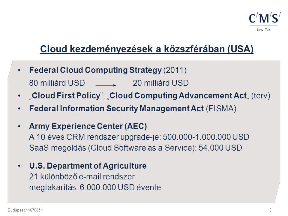 Cloud kezdeményezések a közszférában (USA)