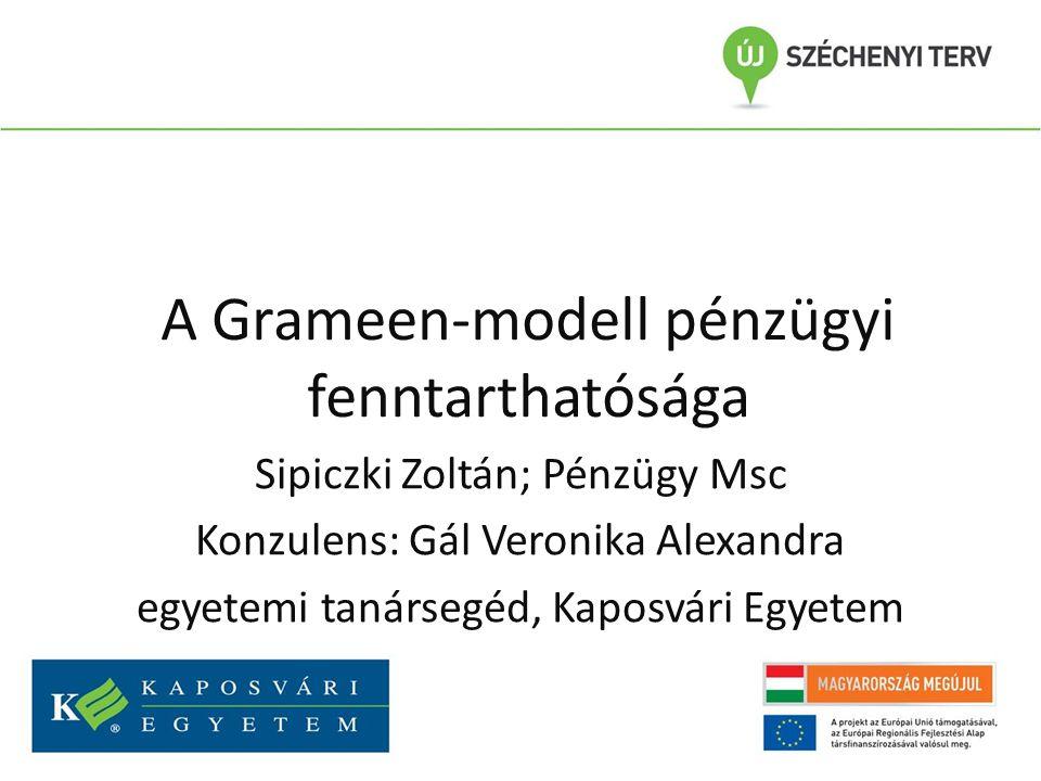 A Grameen-modell pénzügyi fenntarthatósága