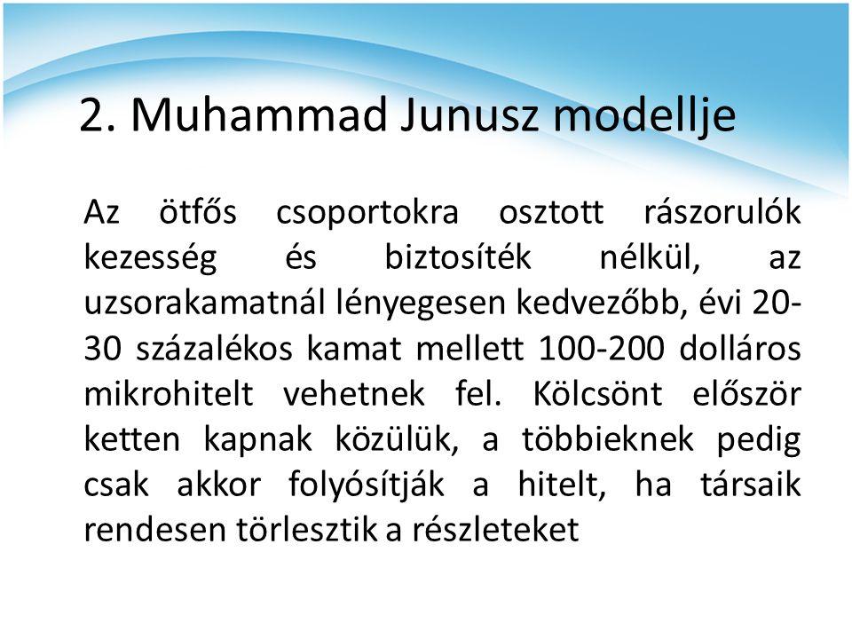 2. Muhammad Junusz modellje