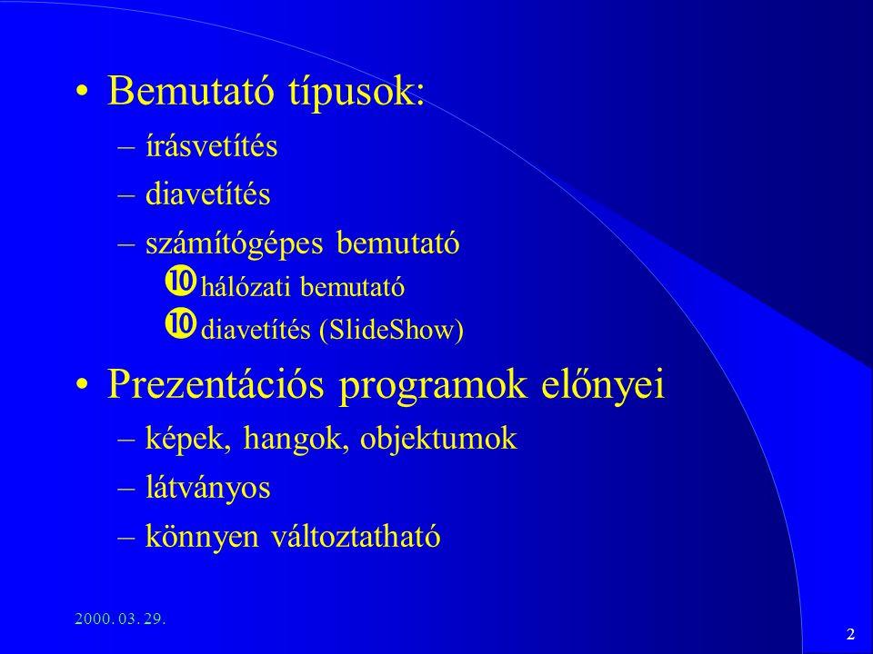 Prezentációs programok előnyei