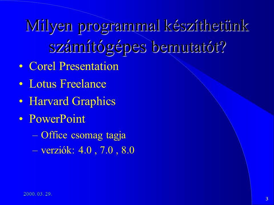Milyen programmal készíthetünk számítógépes bemutatót