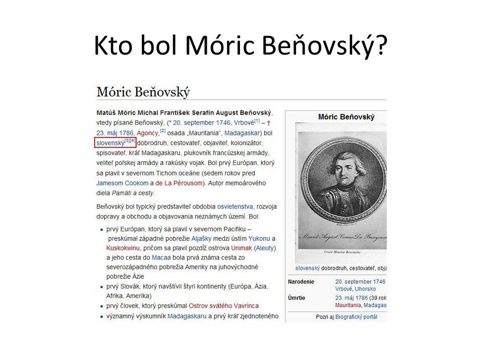 Kto bol Móric Beňovský