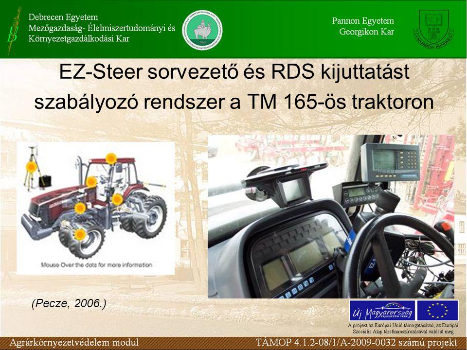 EZ-Steer sorvezető és RDS kijuttatást szabályozó rendszer a TM 165-ös traktoron