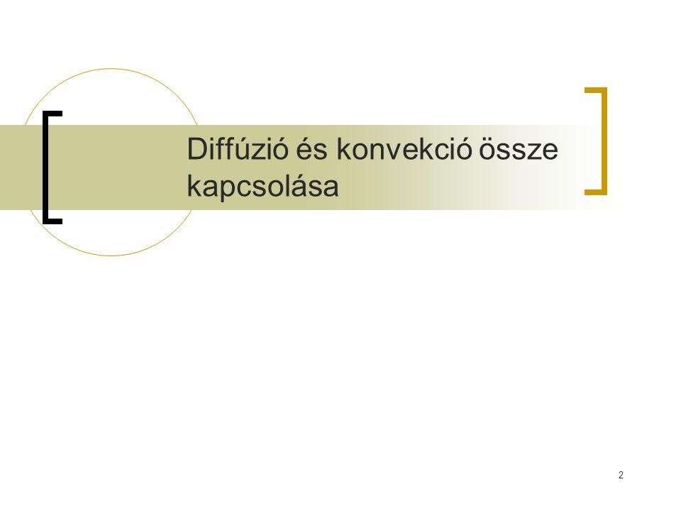 Diffúzió és konvekció össze kapcsolása