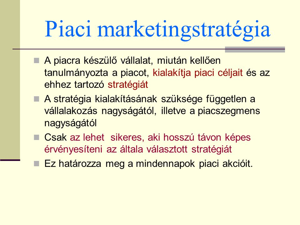 Piaci marketingstratégia